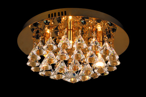 light remote led new crystal diameter modern chandelier ceiling lights round flush control genuine
